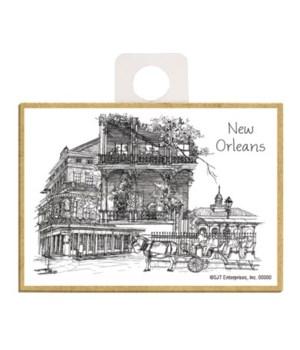 """""""New Orleans"""" black and white illustrati"""