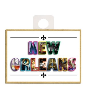 """NEW ORLEANS"" with images in each letter"