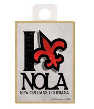 """""""New Orleans"""" - I (Heart) FLA - red fle"""