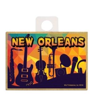 """New Orleans"" - Black instruments on wav"