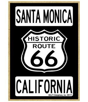 Route 66 - Santa Monica, California Magn