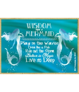 Wisdom from a mermaid Magnet