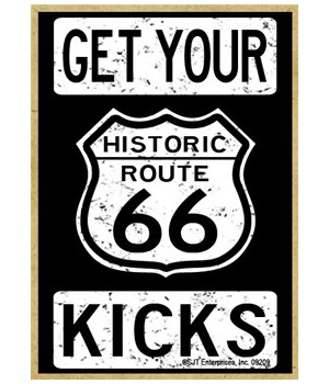 Historic Route 66 - Get Your Kicks - Whi
