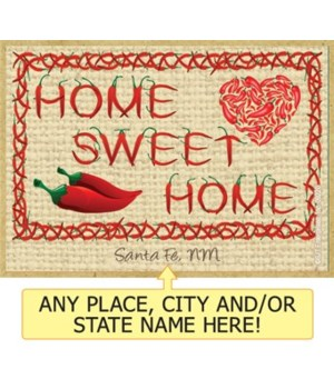 Home Sweet Home - Chile pepper font with