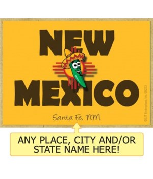 New Mexico - happy pepper wearing sombre