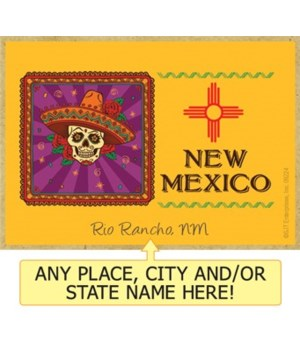 New Mexico - purple box with sugar skull