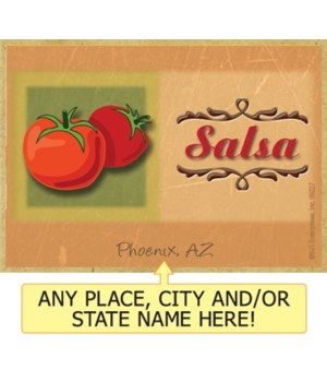 Salsa - Decorative word art -red tomatos