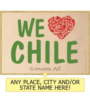 We (Heart) Chile - Green font with red c