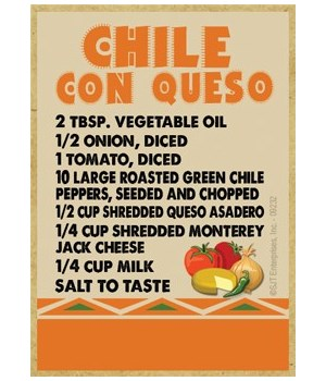 Southwest Recipe - Chile Con Queso - ora