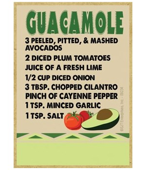 Southwest Recipe - Guacamole - green and