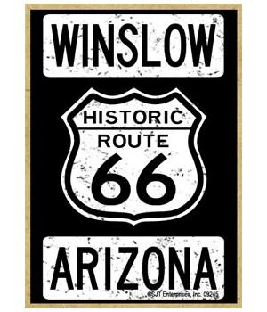 Historic Route 66 - Winslow, Arizona - W