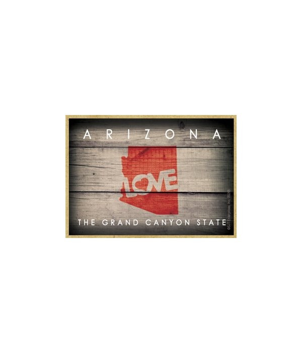 """ARIZONA - State Outline with """"Love"""" and"""
