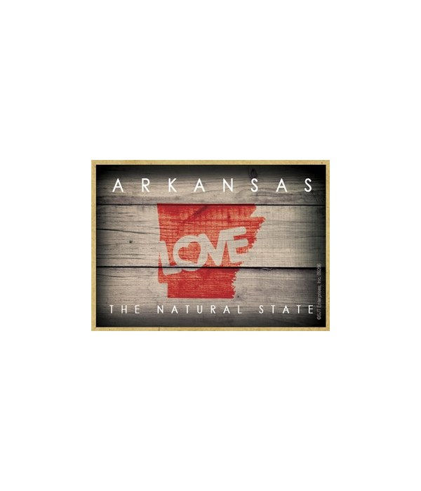 """ARKANSAS - State Outline with """"Love"""" and"""