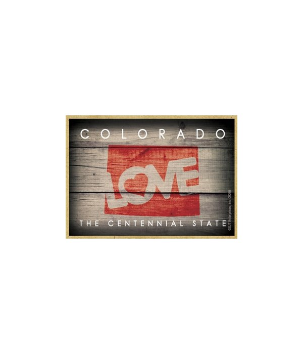 """COLORADO - State Outline with """"Love"""" and"""