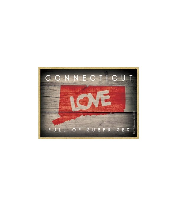 """CONNECTICUT - State Outline with """"Love"""""""