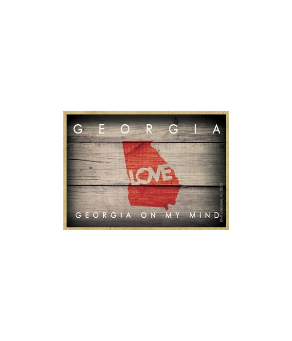 """GEORGIA - State Outline with """"Love"""" and"""
