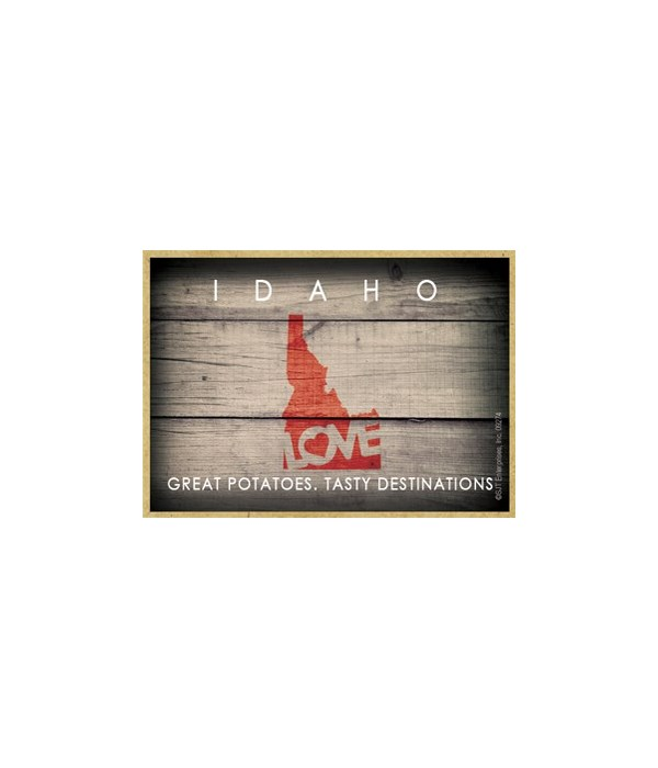 """IDAHO - State Outline with """"Love"""" and St"""