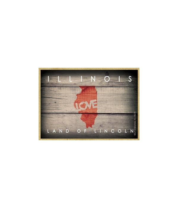 """ILLINOIS - State Outline with """"Love"""" and"""