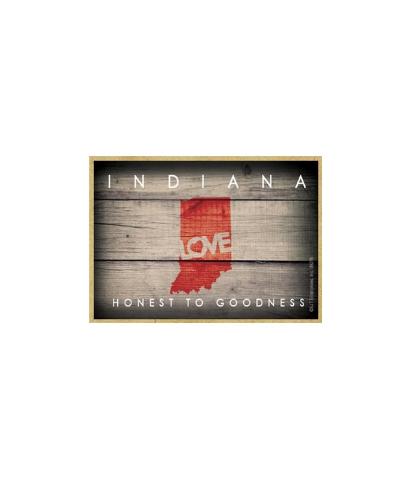 """INDIANA - State Outline with """"Love"""" and"""
