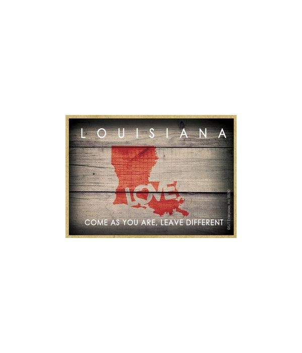 """LOUISIANA - State Outline with """"Love"""" an"""
