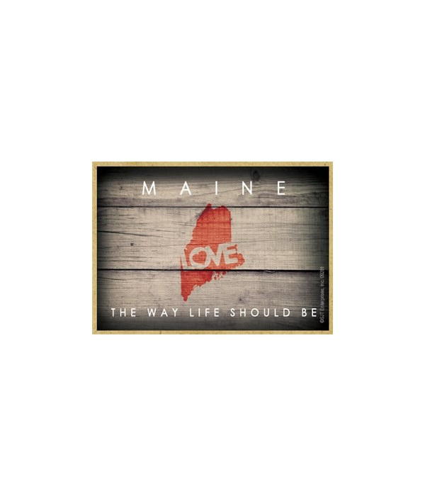 """MAINE - State Outline with """"Love"""" and St"""