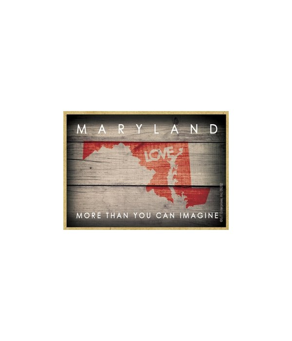 """MARYLAND - State Outline with """"Love"""" and"""