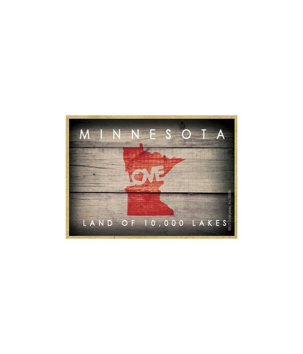 """MINNESOTA - State Outline with """"Love"""" an"""