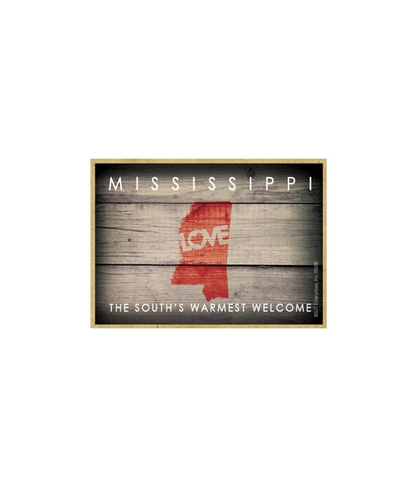 """MISSISSIPPI - State Outline with """"Love"""""""