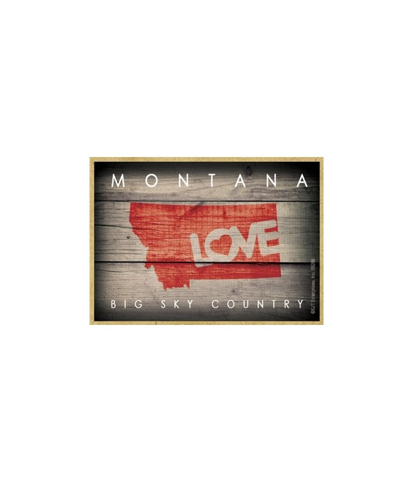 """MONTANA - State Outline with """"Love"""" and"""