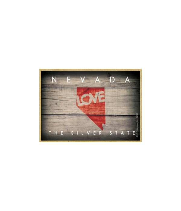 """NEVADA - State Outline with """"Love"""" and S"""