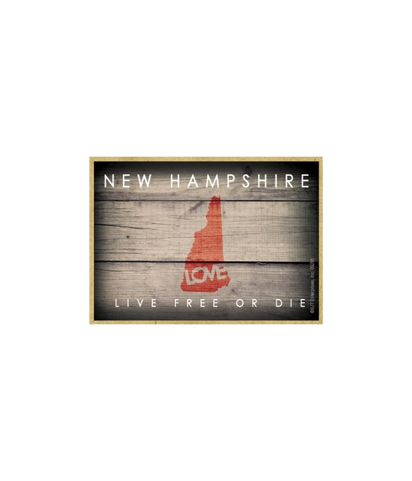 """NEW HAMPSHIRE - State Outline with """"Love"""