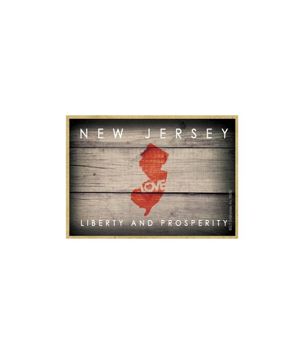 """NEW JERSEY - State Outline with """"Love"""" a"""