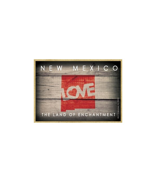 """NEW MEXICO - State Outline with """"Love"""" a"""