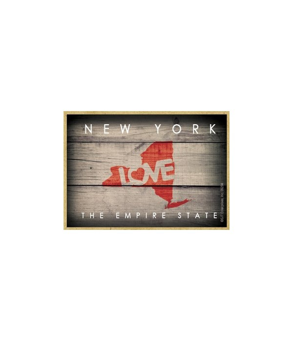 """NEW YORK - State Outline with """"Love"""" and"""