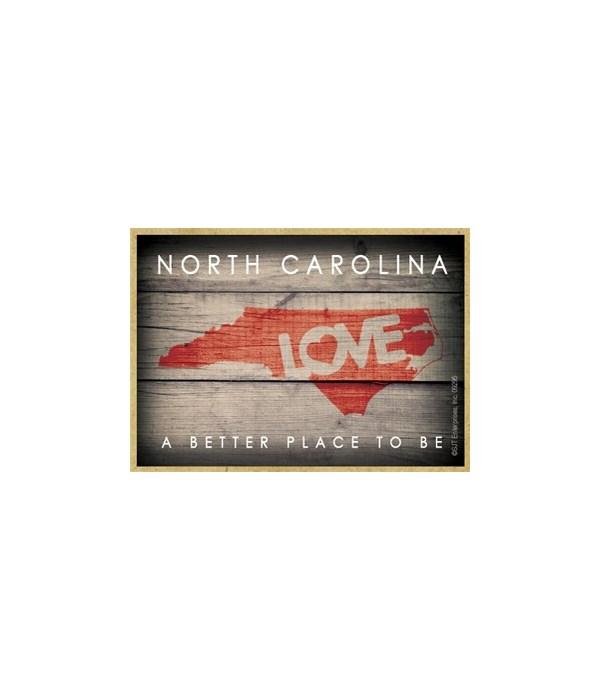 "NorTH CAROLINA - State Outline with ""Lov"