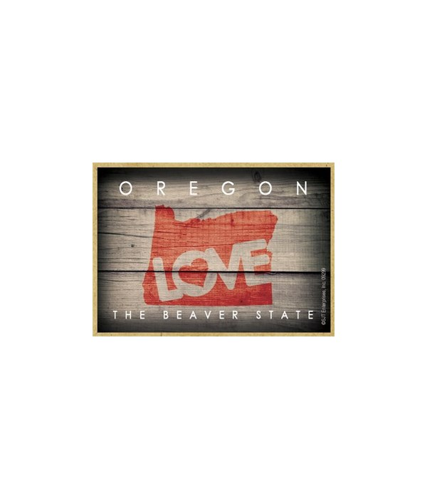 """OREGON - State Outline with """"Love"""" and S"""