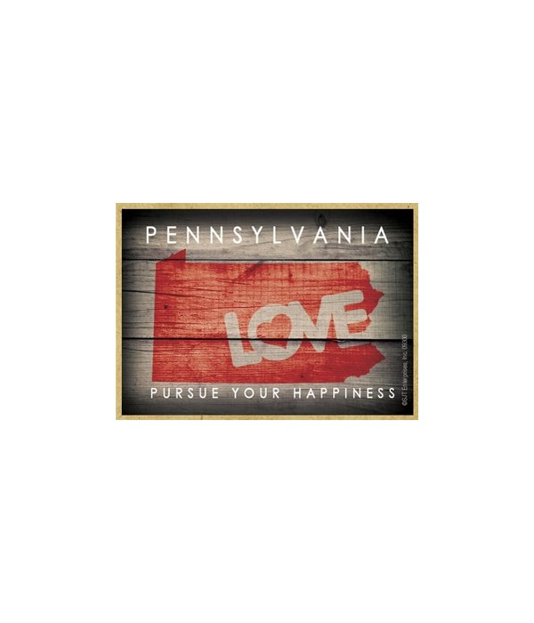 """PENNSYLVANIA - State Outline with """"Love"""""""
