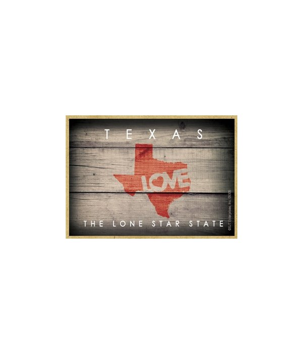 """TEXAS - State Outline with """"Love"""" and St"""