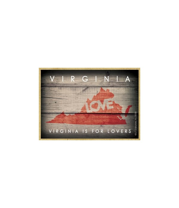 """VIRGINIA - State Outline with """"Love"""" and"""