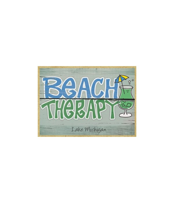 Beach Therapy - green cocktail Magnet