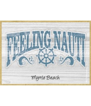 Feeling Nauti - nautical boat wheel Magn