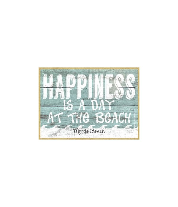 Happiness is a day at the beach - white