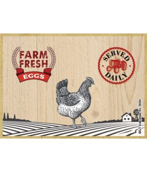 Farm Fresh Eggs Magnet