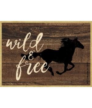 Wild & free (horse running) Magnet