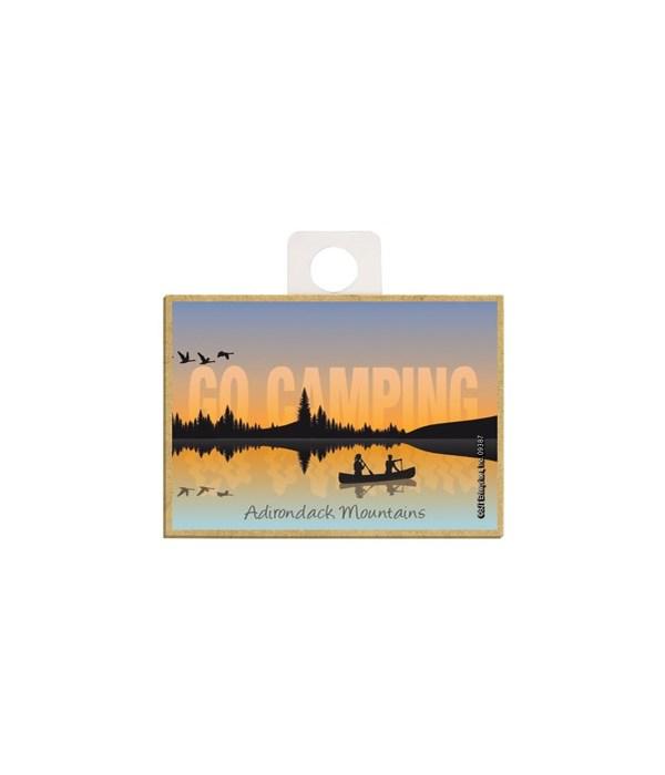 Go Camping - Lake sunset w/canoe silhoue