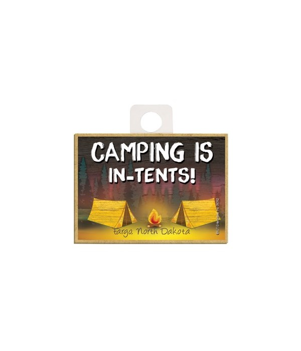 Camping is In-Tents - Camping scene Magn