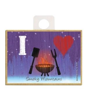 I (heart) grilling - symbols Magnet