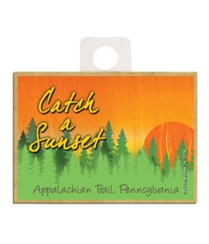 Catch a Sunset - Forest sunset Magnet