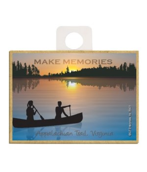 Make Memories - canoe silhouette - sunse