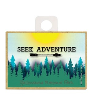 Seek Adventure - Sun and Forest Magnet